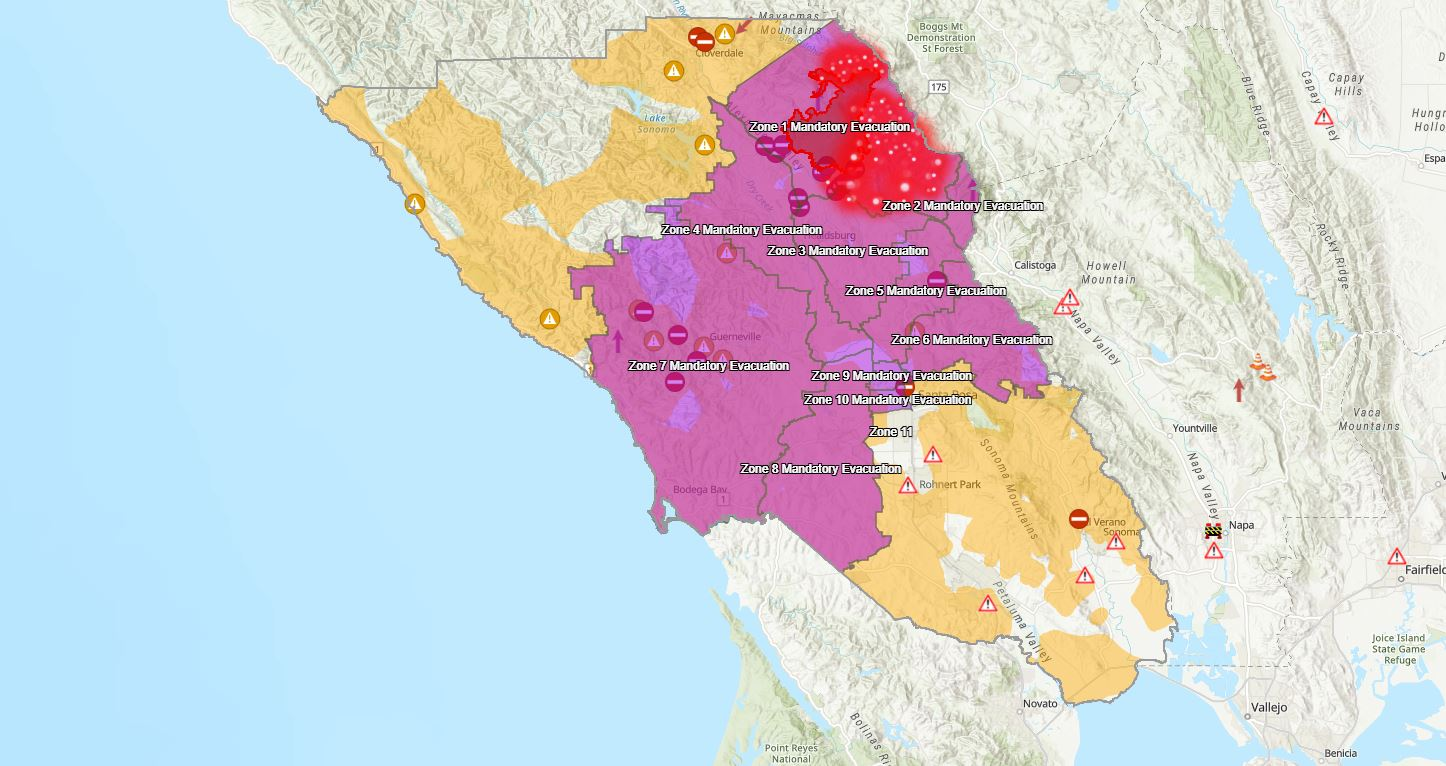 Mandatory evacuations due to Kincade Fire expand to city of ... on san luis obispo, port costa map, rio blanco map, guy fieri, sandia map, san rafael, hayfork map, san francisco bay area, willow canyon map, sonoma county, izabal map, san ramon valley map, beckley map, bay area map, blue mountain beach map, auberry map, darwin falls map, mountain ranch map, rancho murrieta map, santa clara, santa barbara, adjuntas map, rincon valley map, cochiti map, santa cruz, orange coast map, hacienda map, downieville map,