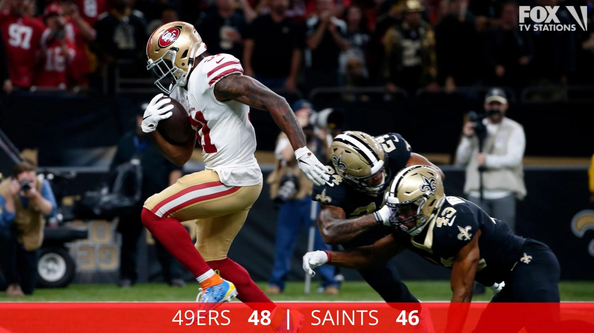 Gorropolo S 4 Td Passes Help 49ers Top Saints 48 46 Ktvu